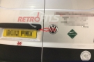 VW T5 Transporter Aftermarket Rear view camear and LCD mirror cliop on screen (6)