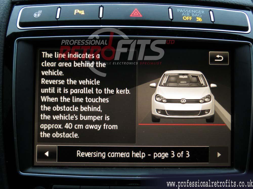genuine badge emblem rear view camera Volkswagen Passat B8 + parking lines