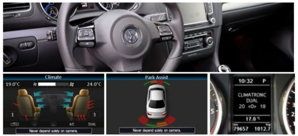 Retain Steering Wheel and Vehicle Display Functions and Parking/Heating Visualisation