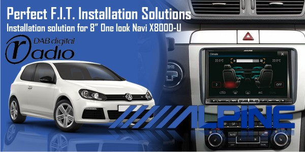 X800D-U - Advanced Navi Station for Your Volkswagen, Seat and Skoda
