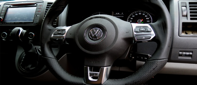 vw multifunction steering wheel fitted