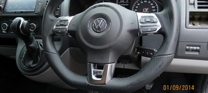 VW T5 MK6 Flat bottom multifunction steering wheel