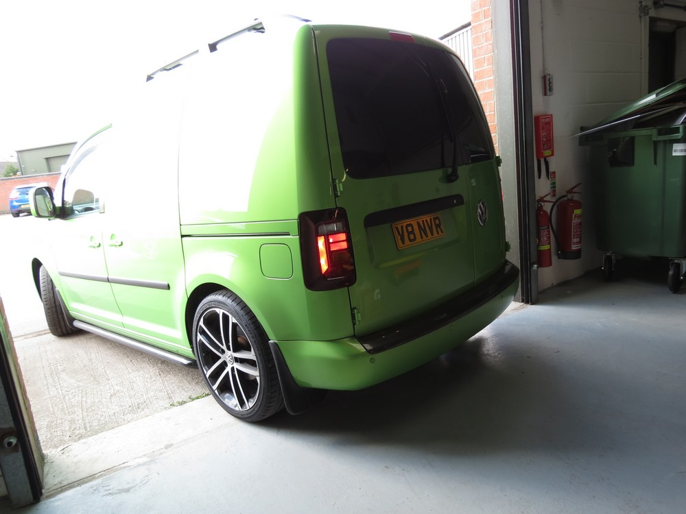 VW Caddy new lights Smoked version