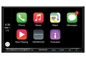 "DNX8160DABS-CarPlay 7.0"" WVGA USB/SD/DVD-Receiver with built-in Navigation System, Bluetooth & DAB tuner"