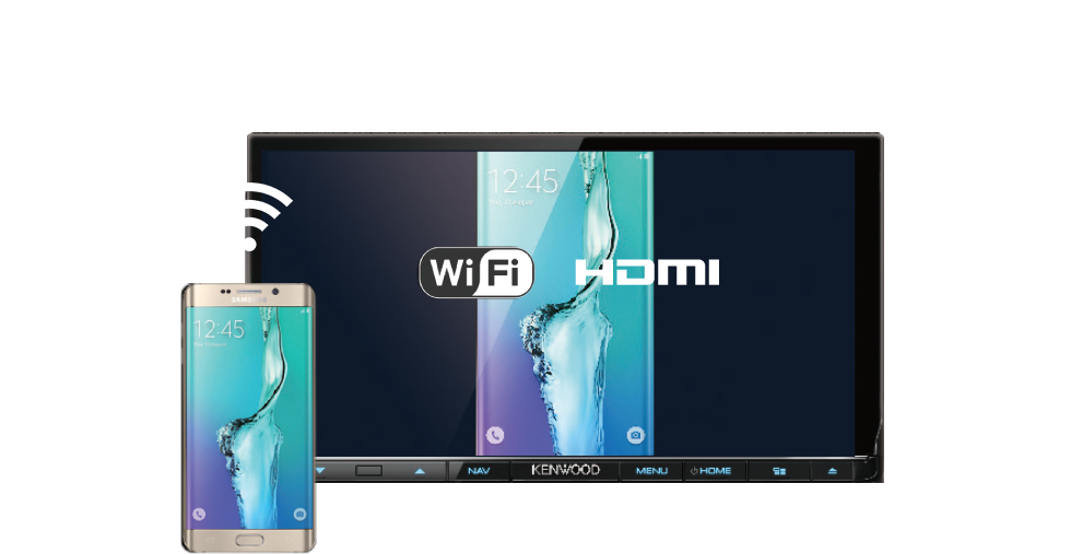"Ready for ""Air"" Mirroring Android and iPhone Wireless Mirroring over Wi-Fi. You can wirelessly mirror any apps in your Android or iPhone byusing KCA-WL100, HDMI / Wi-Fi dongle."