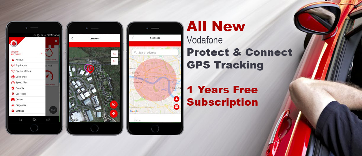 All new Vodafone GPS Tracking Now With APP - Only £183 + VAt Fitted and 1st Year Free Subscription